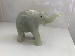 Szerencsehozó jadezöld ónix elefánt M009