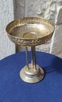 Szecesszió kinàló , Asztalközép fém, ezüstözött