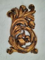 ÚJ! Antikolt réz/bronz színű bútordísz/fali dekoráció 28x24x5cm