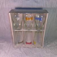 MÁRKA üdítős poharak, 6 db bontatlan