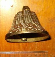 Aranyszínű csinos antik hatású művészi réz harang csengő 300 gramm KIÁRUSÍTÁS