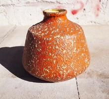 Iparművészeti Tófej retro kerámia váza