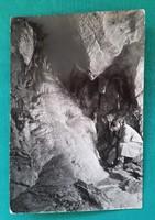 Aggtelek,Jósvafői Baradla barlang,Cseppkőzuhatag képeslap 1957
