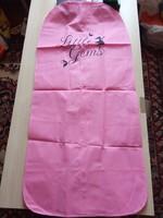 Rózsaszínű ruhavédő zsák,bontatlan csomagolás