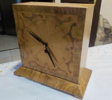 Asztali óra kandalló óra, egyedi készítésű!!