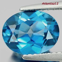 Glamorous cleanliness! Genuine, 100% term. London blue topaz gemstone 2.18ct - (if)! Value: HUF 54,500