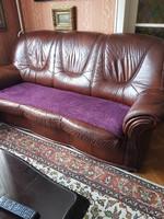 Bőr ülőgarnitúra része-3-as kanapé