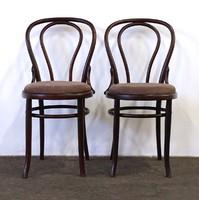 1D849 Régi kárpitozott Thonet szék pár
