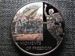 Libéria A szabadság pillanatai Amerikai polgárháború - 1861-1865 10 Dollár 2006 PL (id47372)