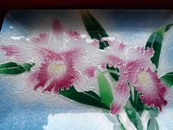 Orchideás tál