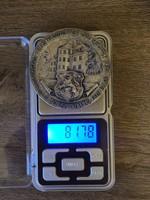 Német Antik bronz érem 81 gramm