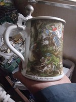 Babariai porcelán antik sőröskorso