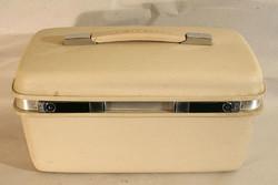 Samsonite kozmetikai táska 39x22x30cm 1970-es évek elefántcsont színű varródoboz