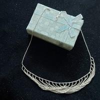 Antik ezüst(925) nyakék, 42 cm hosszú, jelzett, elegáns, csodás gömbökből álló hibátlan egyedi darab