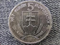 Szlovákia Andrej Hlinka 5 Korona 1939 (id46869)