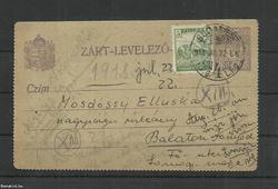 1918.-Zárt levelezőlap-Budapest