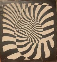 Victor Vasarely: Zebres (1980 körüli reprodukció)