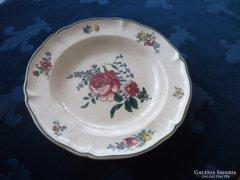 1874 Villeroy&Boch mélynyomással is jelzett rózsás tányér 25x4 cm