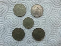Szovjetunió 5 darab 1 rubel LOT !  01