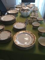 Zsolnay Sissy porcelán étkészlet +teás+ mokkás készlet kiegészítőkkel kompletten