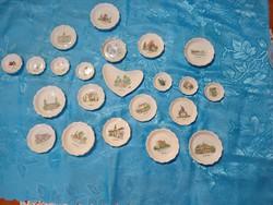 Aquincumi porcelán emlék  tálka gyűjtemény