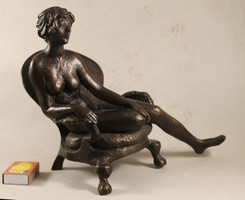 Kutas L bronzírozott szobor 769