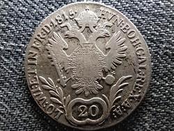 Ausztria II. Ferenc .583 ezüst 20 Krajcár 1815 B (id47432)