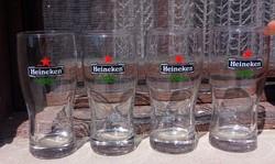 4 db Heineken sörös üveg pohár