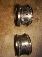 Ezüst szalvéta gyűrűk