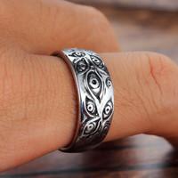 Egyedi kézzel készített gyűrű 18.19mm 925-ös jelzéssel