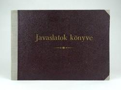 1C331 Régi sztahanovista könyv JAVASLATOK KÖNYVE Rákosi Mátyás üzenetével