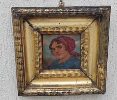 Antik miniatűr stílusú festmény 1800 As évek!