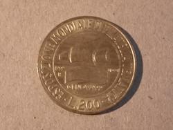 Olasz emlék 200 Líra