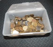 Egy doboz érme pénz