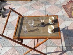 Zsúrkocsi,Tsúr asztal, összecsukható,tàlaló büfé, kinàló kocsi! Retro,Art Deco, Loft Design