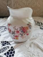 Eladó antik porcelán szecessziós hatalmas virágos kiöntő!