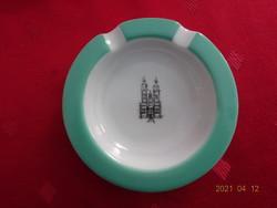 ROYAL DUX  csehszlovák porcelán hamutál, átmérője 9 cm.