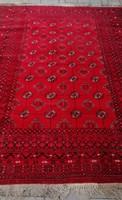Turkmen Afgan Bokhara Gől kézi csomózású nomád szőnyeg.ALKUDHATÓ