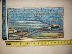 Barcsay Jenő ujjgyakorlat, vegyes technikájú festmény, kartonra ragasztva, hátoldalon szignózva