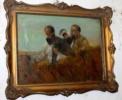 Antik festmény blondel keretben 786