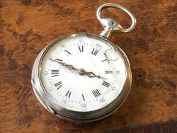 Kulcsos ezüst zsebóra 42 mm