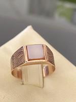 Antik 14 karátos arany pecsétgyűrű ritka ékkővel