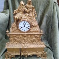 18-19 századi Francia tüzaranyozott  bronz  kandaló óra
