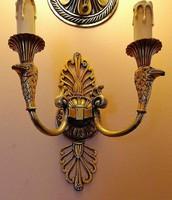 Réz dupla karos fali lámpa (GYÖNYÖRŰ!!!)