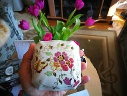 Zsolnay pillangó mintás porcelán nagy bonbonier