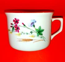 Régi búzavirág mintás, búzakalászos nagy csésze