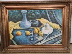 Asztali csendélet posztimpresszionista stílusban -festmény