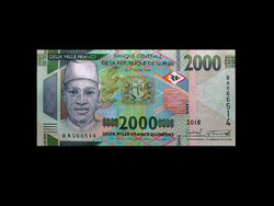 UNC - 2000 FRANK - GUINEA - 2018 (Az új pénz!)