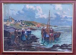 Ismeretlen festőművész – Halászok című festménye – 118.