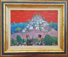 Galambos Tamás - A város kulcsa 30 x 40 cm olaj, vászon